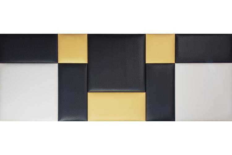 Декоративен панел от изкуствена кожа 25х25cm 90727 ЧЕРЕН