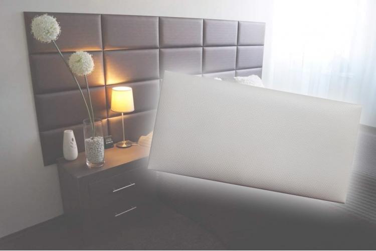 Декоративен панел от изкуствена кожа 25х12,5cm 10524 БЯЛ