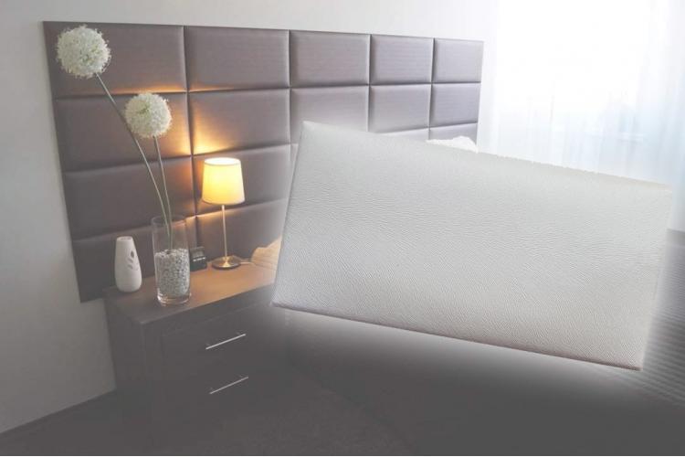 Декоративен панел от изкуствена кожа 25х12,5cm 10525 БЯЛ