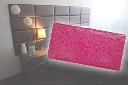 Декоративен панел от изкуствена кожа 50х25cm 11732 РОЗОВ