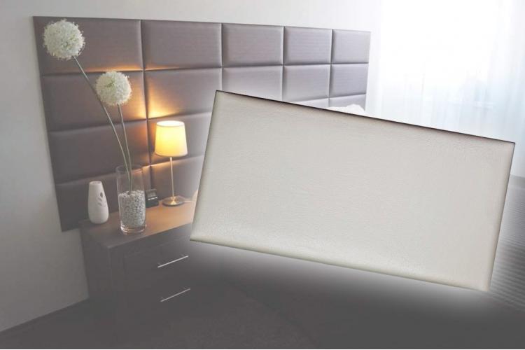 Декоративен панел от изкуствена кожа 25х12,5cm 21613 КРЕМ