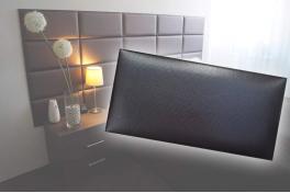 Декоративен панел от изкуствена кожа 25х12,5cm 90727 ЧЕРЕН