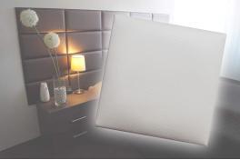 Декоративен панел от изкуствена кожа 50х50cm 10524 БЯЛ