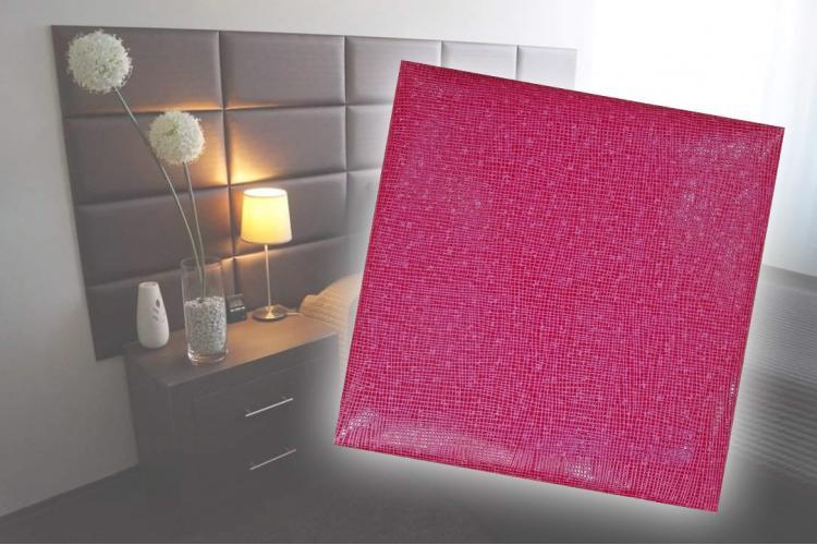 Декоративен панел от изкуствена кожа 12,5х12,5cm 11732 РОЗОВ