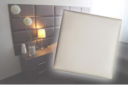 Декоративен панел от изкуствена кожа 25х25cm 21613 КРЕМ