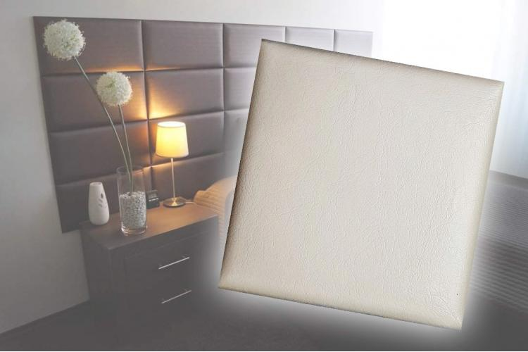 Декоративен панел от изкуствена кожа 50х50cm 21613 КРЕМ