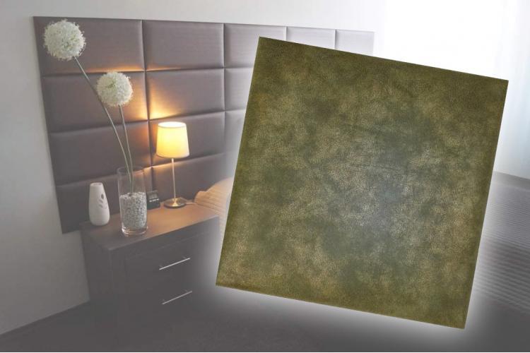 Декоративен панел от изкуствена кожа 50х50cm 50461 ЗЕЛЕН