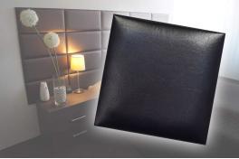 Декоративен панел от изкуствена кожа 25х25cm 90138 ЧЕРЕН