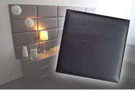 Декоративен панел от изкуствена кожа 12,5х12,5cm 90727 ЧЕРЕН