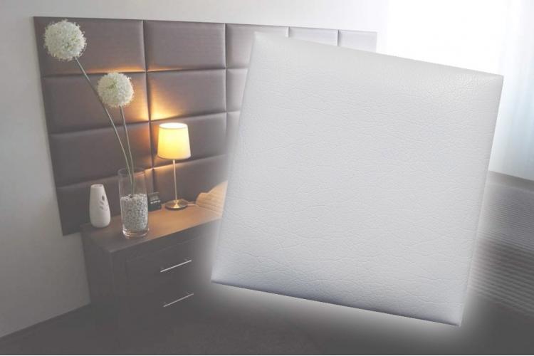 Декоративен панел от изкуствена кожа 25х25cm 10373 БЯЛ