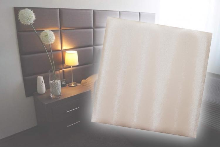 Декоративен панел от изкуствена кожа 12,5х12,5cm 21934 ПУДРА