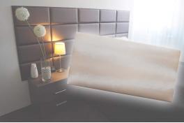 Декоративен панел от изкуствена кожа 50х25cm 21934 ПУДРА
