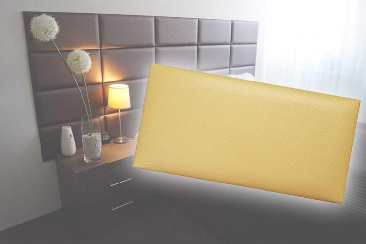Декоративен панел от изкуствена кожа 50х25cm 41647 ЗЛАТЕН