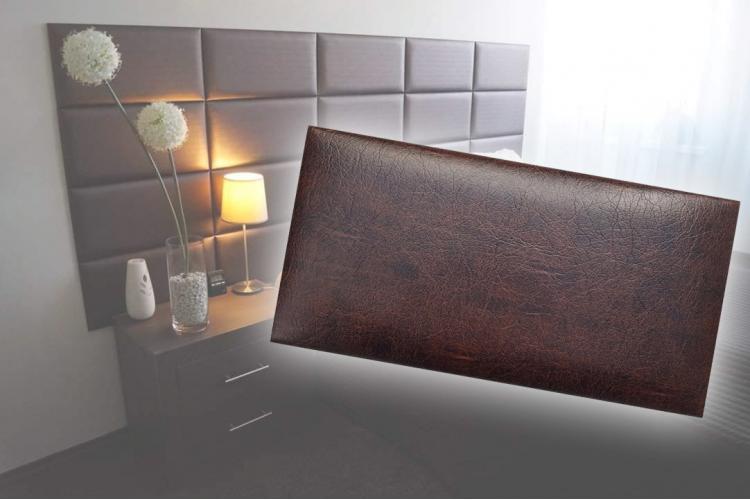 Декоративен панел от изкуствена кожа 50х25cm 80226 КАФЯВ