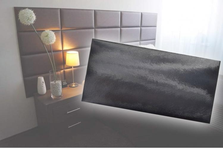 Декоративен панел от изкуствена кожа 50х25cm 90728 ЧЕРЕН