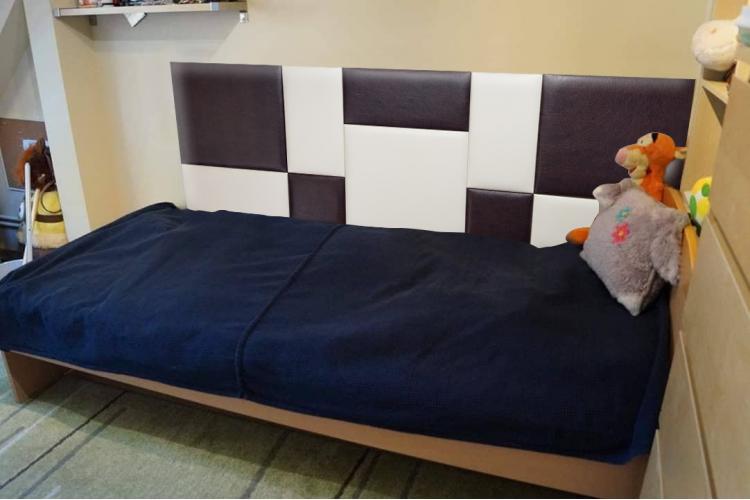 Декоративен панел от изкуствена кожа 50х50cm 80226 КАФЯВ