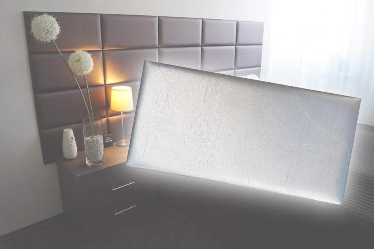 Декоративен панел от изкуствена кожа 25*12,5cm 13671 СРЕБРО