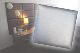 Декоративен панел от изкуствена кожа 50*50cm 13671 СРЕБРО