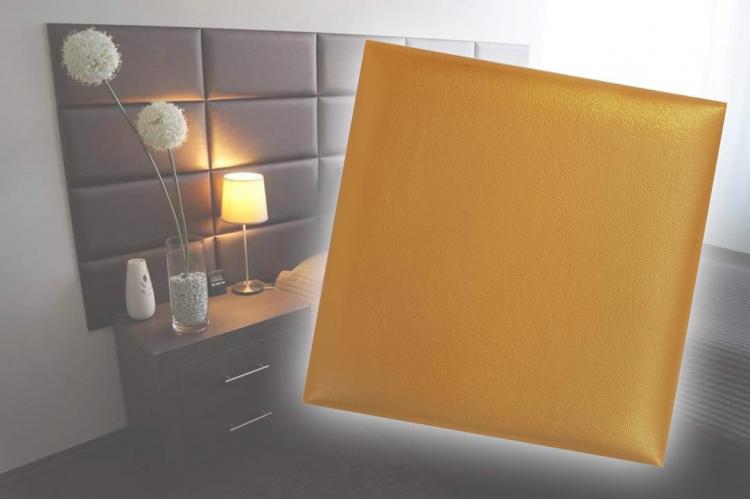 Декоративен панел от изкуствена кожа 25*25cm 13691 ЗЛАТО