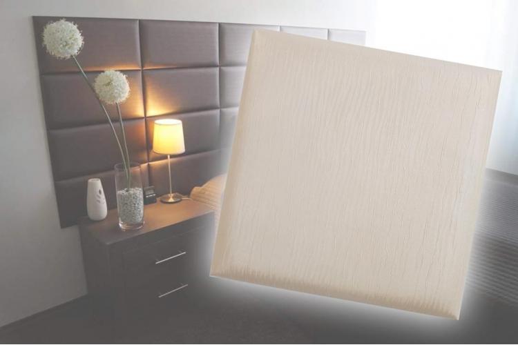 Декоративен панел от изкуствена кожа 12,5*12,5cm 13895 ШАМПАНСКО