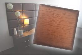 Декоративен панел от изкуствена кожа 12,5*12,5cm 13896 БАКЪР