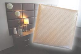 Декоративен панел от изкуствена кожа 12,5*12,5cm 78686 КРЕМ