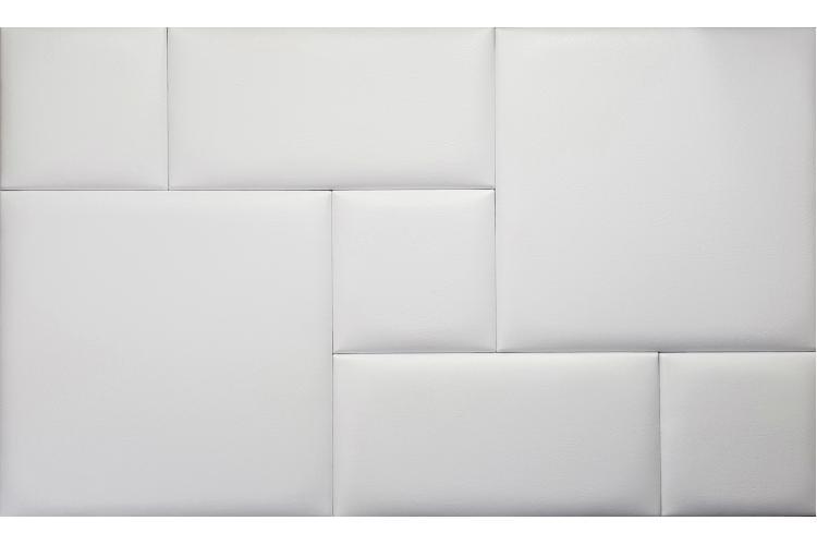 Декоративен панел от изкуствена кожа 50х25cm 10373 БЯЛ