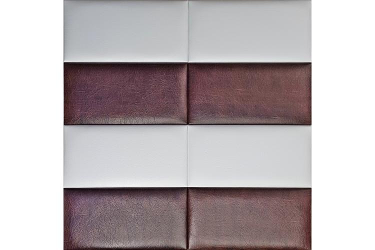 Декоративен панел от изкуствена кожа 50х50cm 10373 БЯЛ