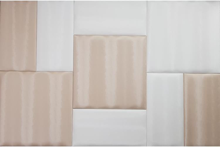 Декоративен панел от изкуствена кожа 12,5х12,5cm 80226 КАФЯВ