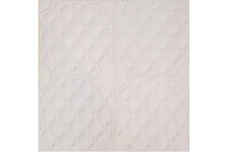 3D самозалепващ стикер P6 Ромб, бял