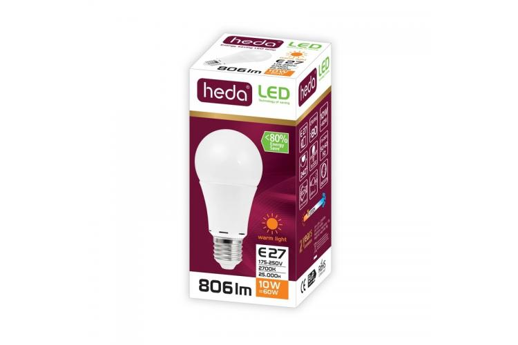 HEDA Led bulb 10W, warm light