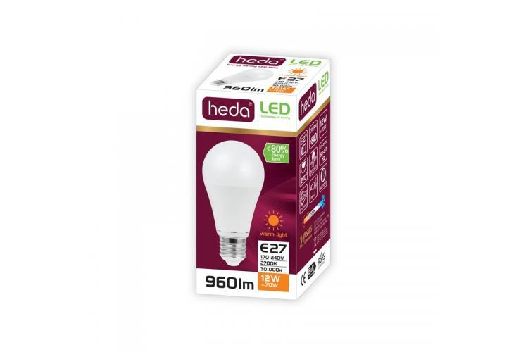HEDA Led bulb 12W,  warm light
