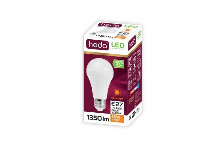 HEDA Led bulb 15W,  warm light