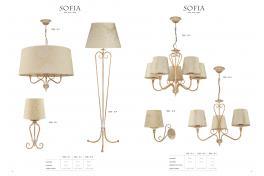 Настолна лампа SOFIA 1594 - SI L 1x60W E27