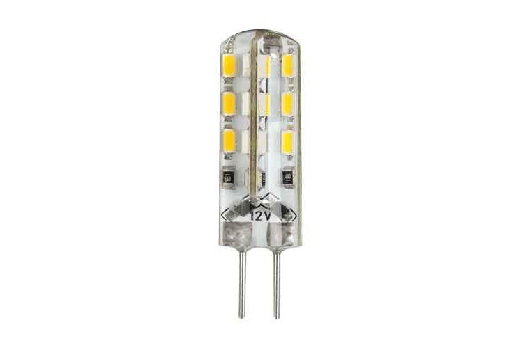 LED lamp 12V G4 2W 360⁰ 24 SMD 3014, warm light– 2 pcs/blister