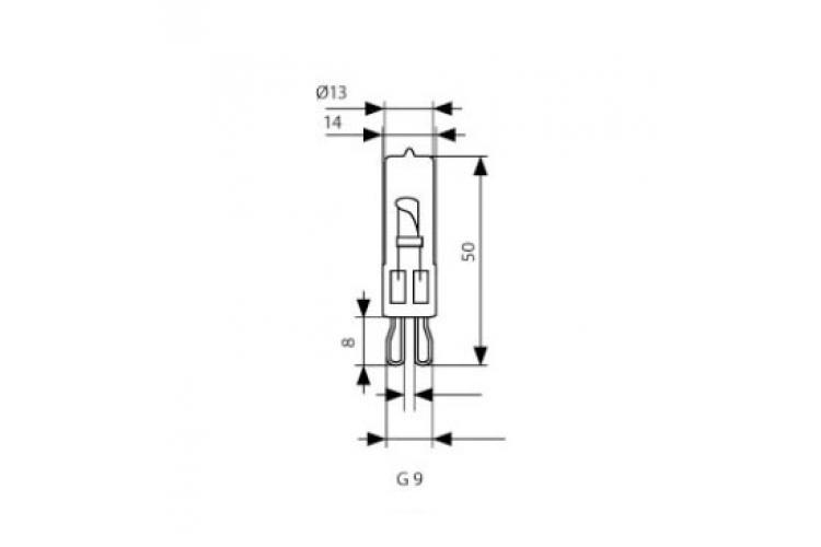 Халогенна капсула 33W 220V G9