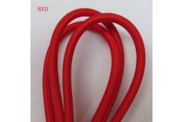 Текстилен кабел 2х0.5мм2 червен